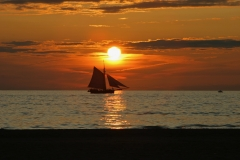 Tall Ship at Sunset