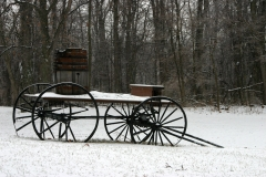 Buckboard in the snow