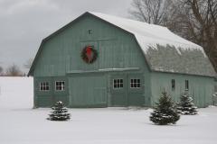 Snowy Green barn
