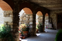 Stone archways of mission in Texas
