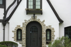 Tudor home in city