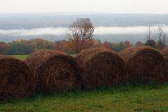 Hay Bales on the hillside