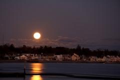 Moonrise on Long Island Sound