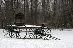 Buckboard in the snow
